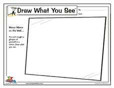 Draw What You See: Mirror Mirror on the Wall... Worksheet