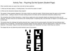 Activity Two--Psyching Out the System (Student Page) Asking Questions, Using Clues Worksheet