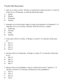 TAKS Measurement Lesson Plan