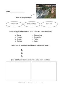 Mine Site Facts Worksheet