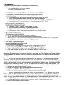 CTBS Practice Test #5 Worksheet