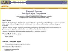 Chemical Changes Lesson Plan