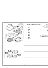 Words With the Short /e/ sound Worksheet
