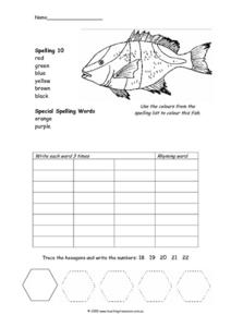 Color Words That Rhyme Worksheet