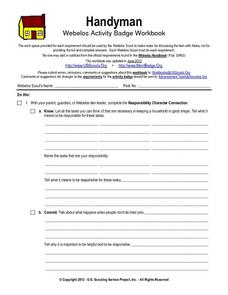 Handyman Worksheet for 7th - 10th Grade | Lesson Planet
