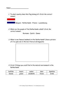 Netherlands Worksheet