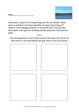 Clean Water Worksheet