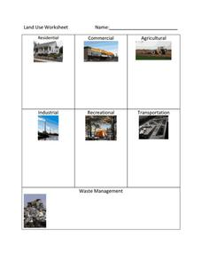 Land Use Worksheet Worksheet