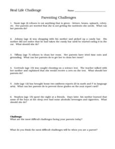 Parenting Challenges Worksheet