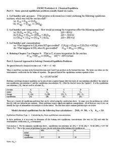 chemical equilibria worksheet for higher ed lesson planet. Black Bedroom Furniture Sets. Home Design Ideas