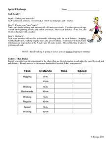 Speed Challenge Worksheet