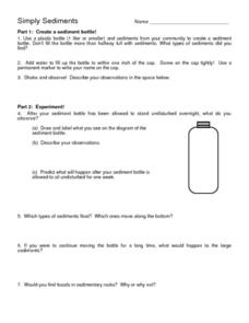 Simply Sediments Worksheet