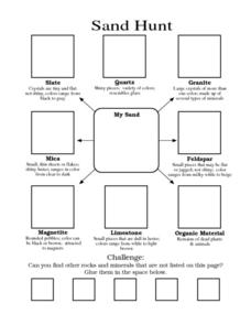 Sand Hunt Worksheet