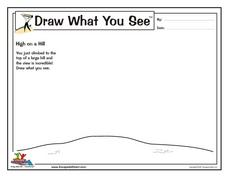 Draw What You See: High on a Hill Worksheet
