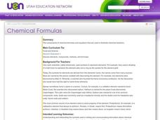 Chemical Formulas Lesson Plan