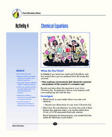 Chemical Equations Activities & Project