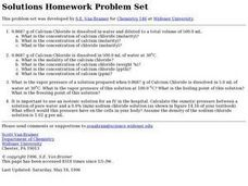 Solutions Homework Problem Set Worksheet