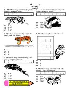 Measurement: Worksheet 1: Grade 3 Lesson Plan