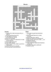 Chemistry Crosswords Puzzles Lesson Plans & Worksheets