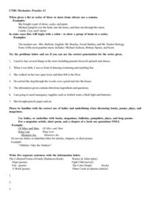 CTBS Mechanics Practice #1 Worksheet
