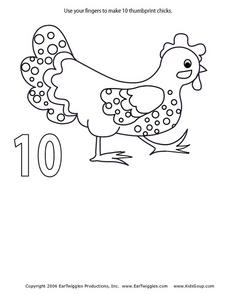 USE YOUR FINGERS TO MAKE 10 THUMBPRINT CHICKS Lesson Plan
