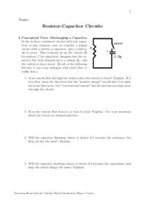 Resistor-Capacitor Circuits Worksheet