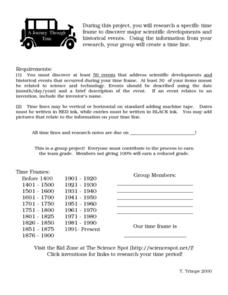 A Journey Through Time Worksheet