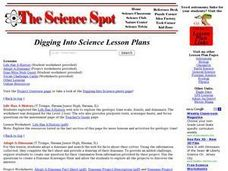 Digging Into Science Lesson Plans Worksheet