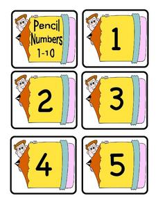 Ten Numbers Lesson Plan