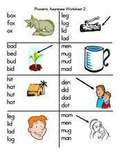 Phonemic Awareness Worksheet 2 Lesson Plan
