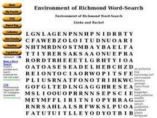 Environment of Richmond Word-Search Worksheet
