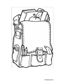 COLORING: BACKPACK Worksheet