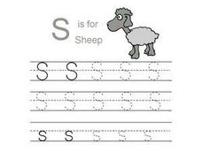 S is for Sheep Printing Practice Page Worksheet