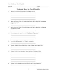 Getting to Know the Czech Republic Worksheet