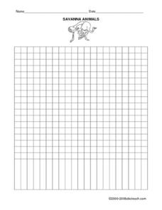 Savanna Animals Worksheet