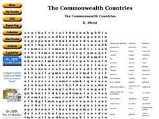 The Commonwealth Countries Worksheet