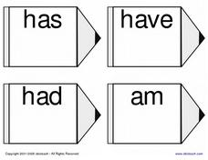 Sight Word Flash Cards Worksheet