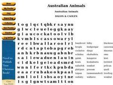 Australian Animals Worksheet
