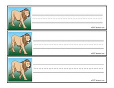 LION (PRINTING) Worksheet