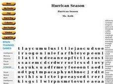 Hurricane Season Worksheet