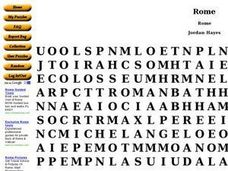 Rome Word Search Worksheet
