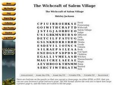 The Witchcraft of Salem Village Worksheet