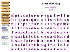 Cross Stitching Worksheet