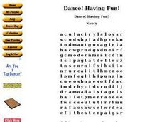 Dance! Having Fun! Worksheet