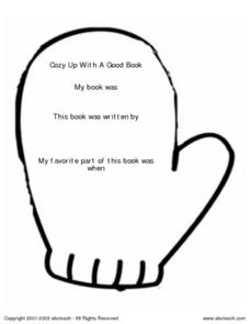 Cozy Up With a Good Book Worksheet