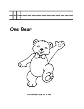 One Bear Worksheet