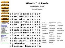 Ghostly Post Puzzle Worksheet