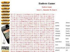Enders Game Worksheet