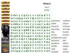 Dance!!!!!! Worksheet