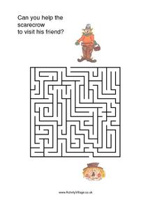 Can You Help the Scarecrow To Visit His Friend Worksheet